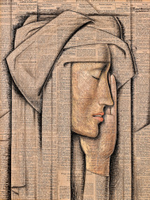 """Head of a Nun"" by Alfredo Ramos Martinez"