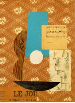 """Guitar, Sheet Music, Glass"" by Pablo Picasso"